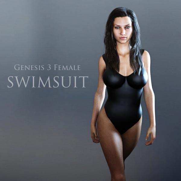 Free G3F Swimsuit for Genesis 3 Female for DAZ Studio