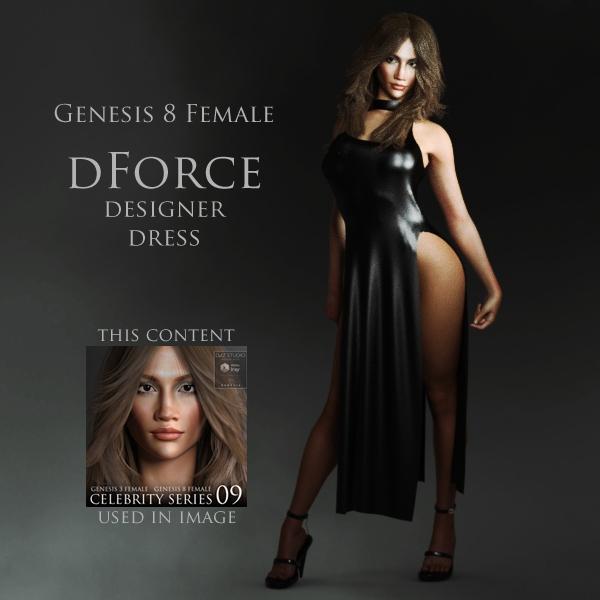 Free dForce Designer Dress for Genesis 8 Female for DAZ Studio