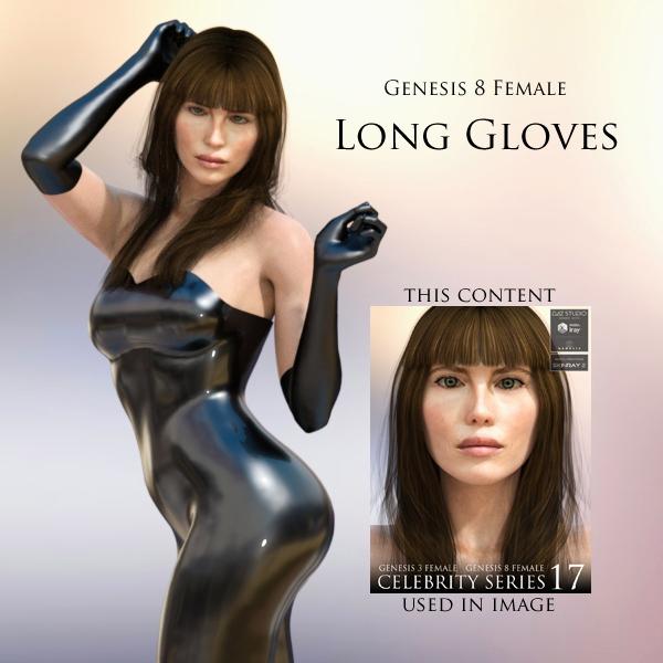 Free Long Gloves for Genesis 8 Female for DAZ Studio