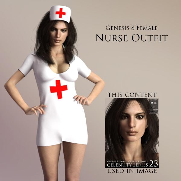 Free Nurse Outfit for Genesis 8 Female for DAZ Studio