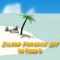 Props for making Island, Desert and Oasis scenes with Poser 6!